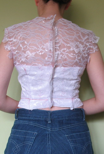 Final bodice test- back