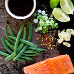 Foil Packet Soy-Lime Salmon with Green Beans