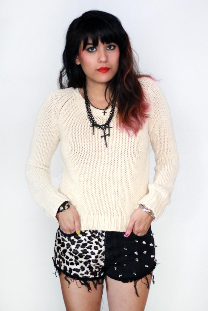 Tarte Vintage J Crew waffle knit jumper sweater