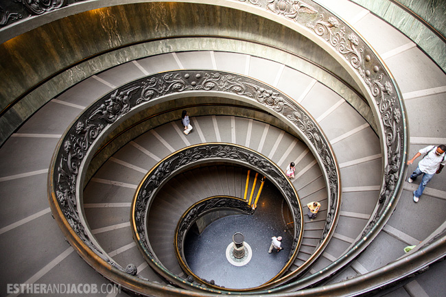 Spiral stair exit Vatican Museum Exit When in Rome Day 2 | What to do and see in Rome in 48 hours | Travel Photography