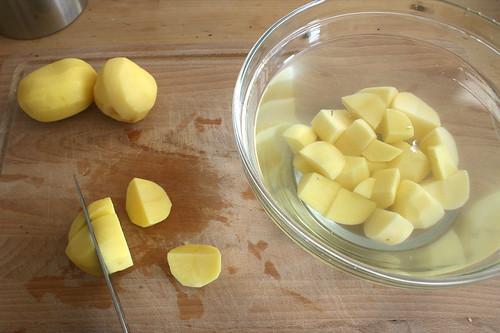 14 - Kartoffeln würfeln / Dice potatoes