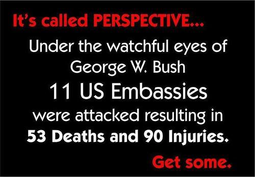 Perspective. #Benghazi #Hypocrites #PartisanHacksWithTheShortTermMemoryOfAFly #p2 #tcot