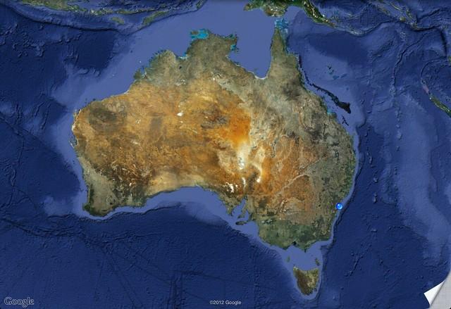 Australia z Google Maps