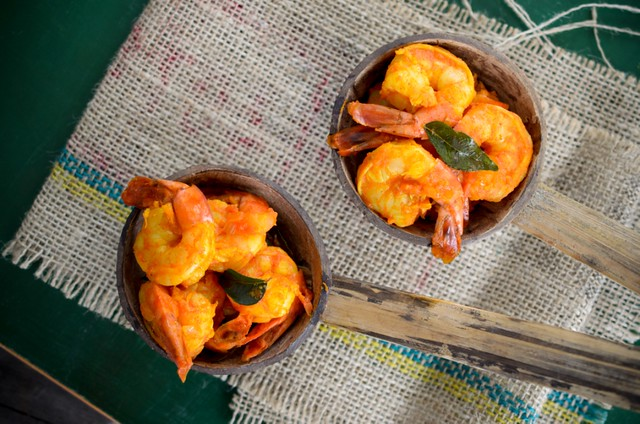 Kerala Style Sweet and Spicy Prawn  Fry