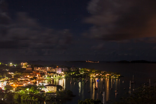 longexposure trees vacation sky ferry night clouds port buildings reflections dark stars boats island lights islands evening harbor still dock honeymoon view restaurants peaceful calm stjohn timeexposure tropical shops caribbean hotels sailboats overlook tropics businesses usvirginislands usvi cruzbay