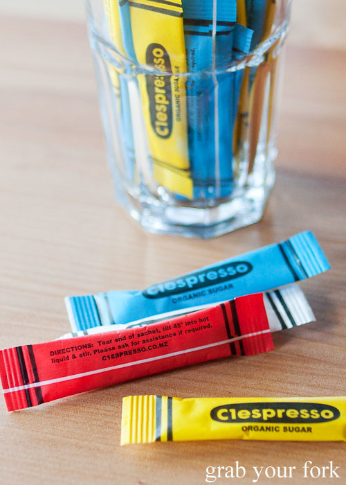 crayola sugar sachets at c1 espresso christchurch