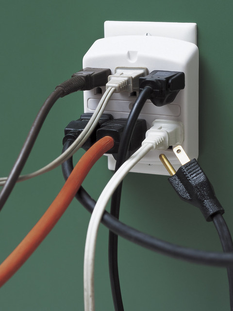 Holiday Fire Safety - Overloaded electrical outlet