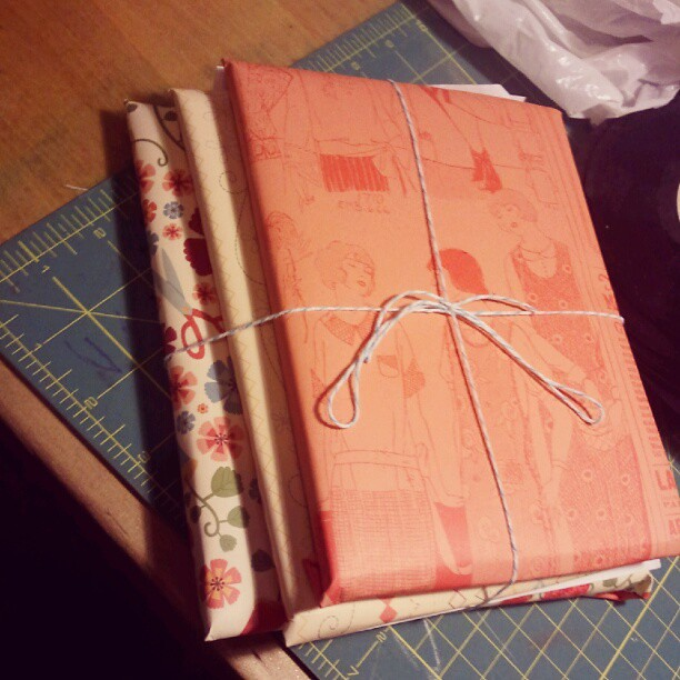 No wrapping paper, so I'm breaking out the patterned paper.