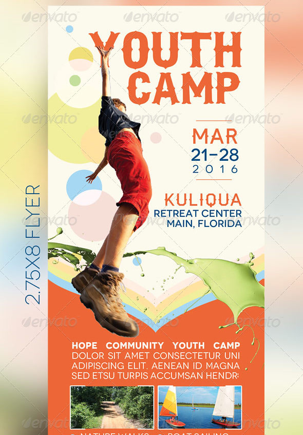 Youth camp mini flyer template a photo on flickriver for Youth sports photography templates