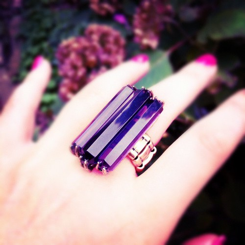 Pretty much #obsessed with this @mark_girl Vintage Violet Ring! Only $18 but get 20% off when you use code COSMO20 