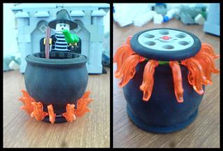 Witch's cauldron fire technique