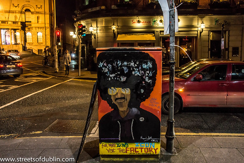 Dublin Street Art: The City Of Dublin At Night by infomatique