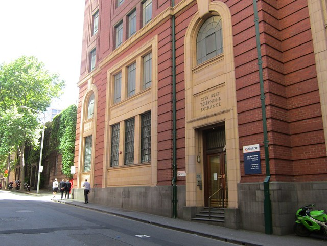 Telephone exchange, Little Bourke Street