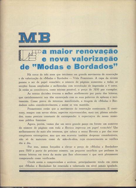 Modas e Bordados, Nº 3064, Outubro 28 1970 - 2