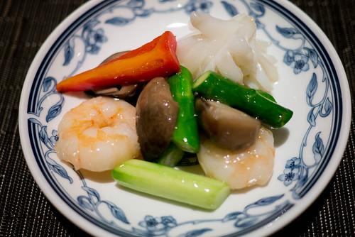 海鮮と野菜のいためもの