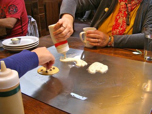 making pancakes:)