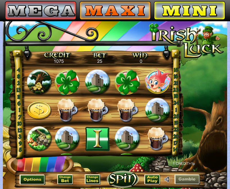 Irish Luck Progressive Slot Game