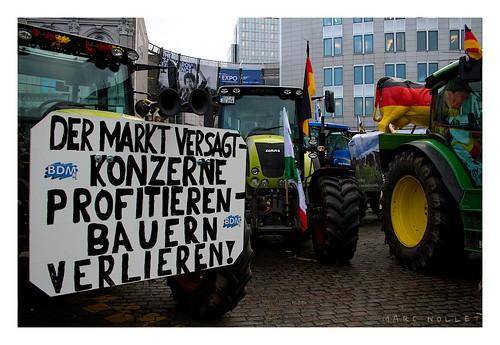 Milchbauern in Brüssel