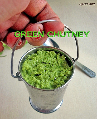 CORIANDER LEAVES CHUTNEY (FOR IDLI DOSA)