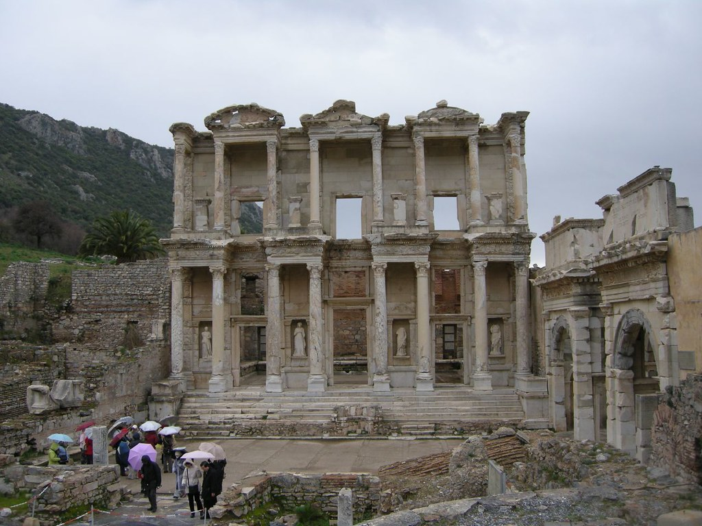 ACFEA fam trip of Turkey - this is Ephesus, the ancient library - put this on your bucket list!