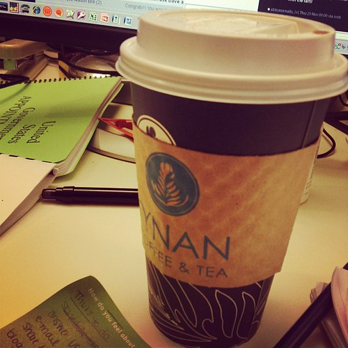 Massive chai tea lattes...the only way I will get through winter.