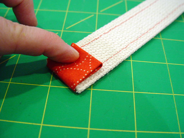 making the straps, 2