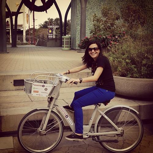 The most fun I've had in a while was on a #bike in downtown #houston #houtx #beautifulday