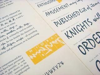Mistral type specimen brochure