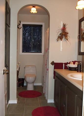 Salle de bain apr s transformation de la salle de bain for Transformation salle de bain