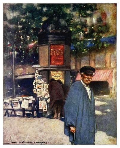 022- Un kiosko en el Boulevard-Paris (1909)-Mortimer Menpes