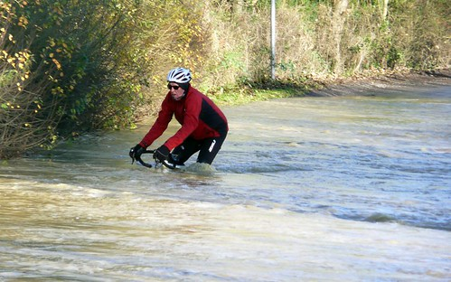 Cycle path flood