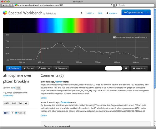 Spectral Workbench new interface