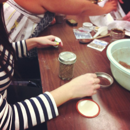 making lotion bars and sugar scrub