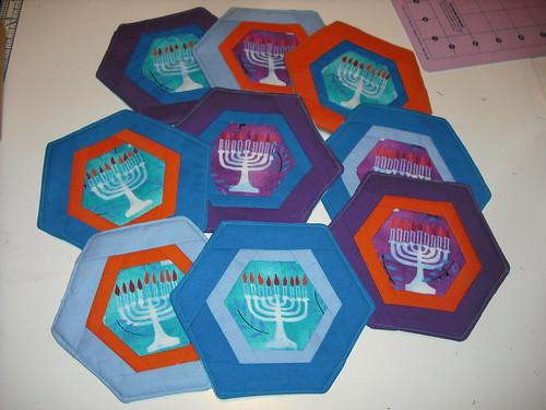 Hannukah coasters
