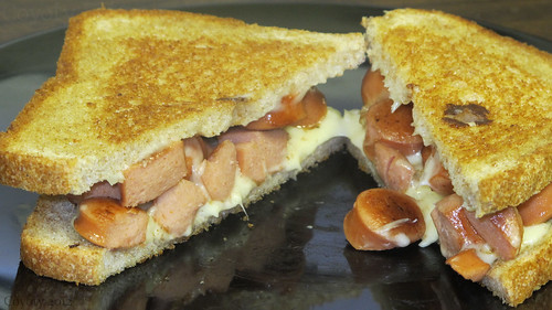 Grilled hot dog & cheese on wheat by Coyoty