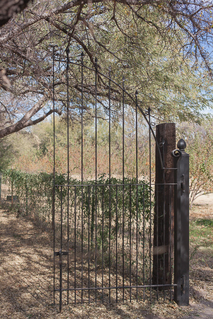Gate to Vintage Orchard at Tumacacori National Historic Site