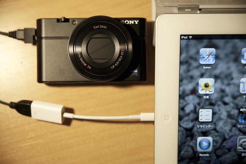 Apple Lightning Camera Connection Kit(Lightning USBカメラアダプタ) & iPad Retina