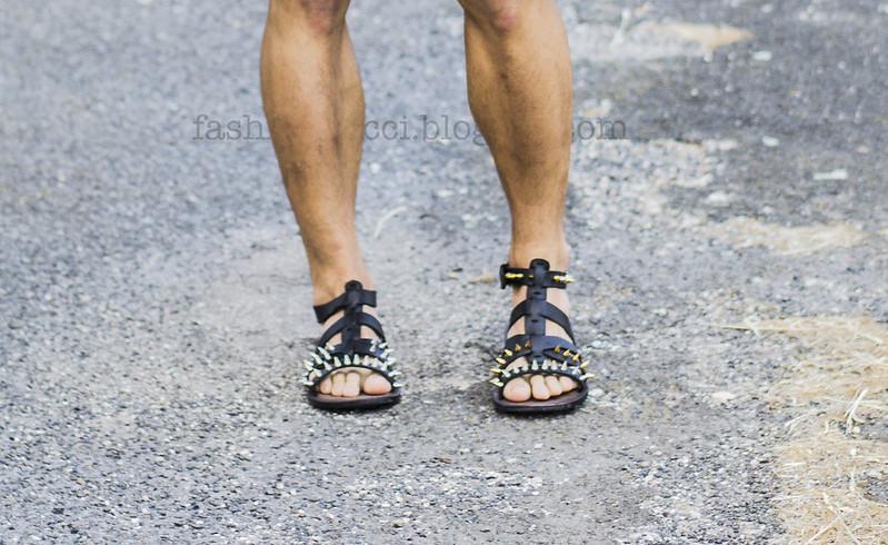 blog sandals studded