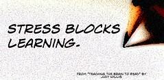 "Educational Postcard:  ""Stress blocks learning"""