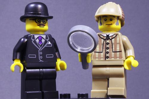Sherlock & Watson LEGO System Minifigures