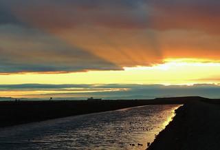 Winter Sunset ~ Wintersburg Channel