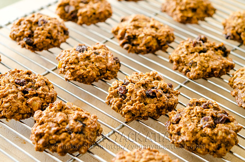 Vegan Persimmon Oatmeal Cookies