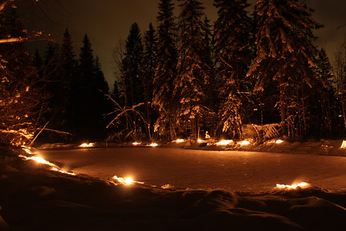longexposure light sky ice nature night canon suomi finland lights pond december skating kitlens 1855mm 1855 finnish canoneos 2012 longshutterspeed canoneos500d
