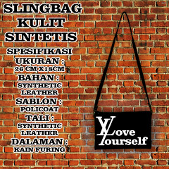slingbag sablon hitam 21 love yourself