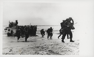 Marines Wade Ashore From Landing Craft, 8 March 1965