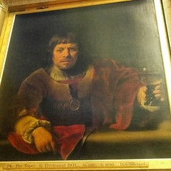 Portrait in the Wallace collection looks surprisingly like Oliver Reed. #art