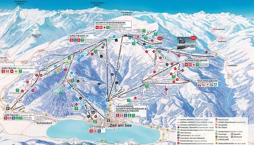 Zell am See - Schmittenhöhe - mapa sjezdovek