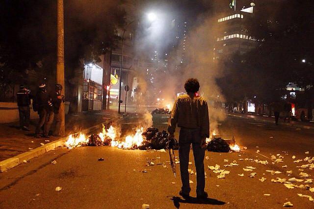 Los protesto de esta última semana terminaron en todos los casos en represión policial / José Eduardo Bernardes / Brasil de Fato - Créditos: José Eduardo Bernardes / Brasil de Fato