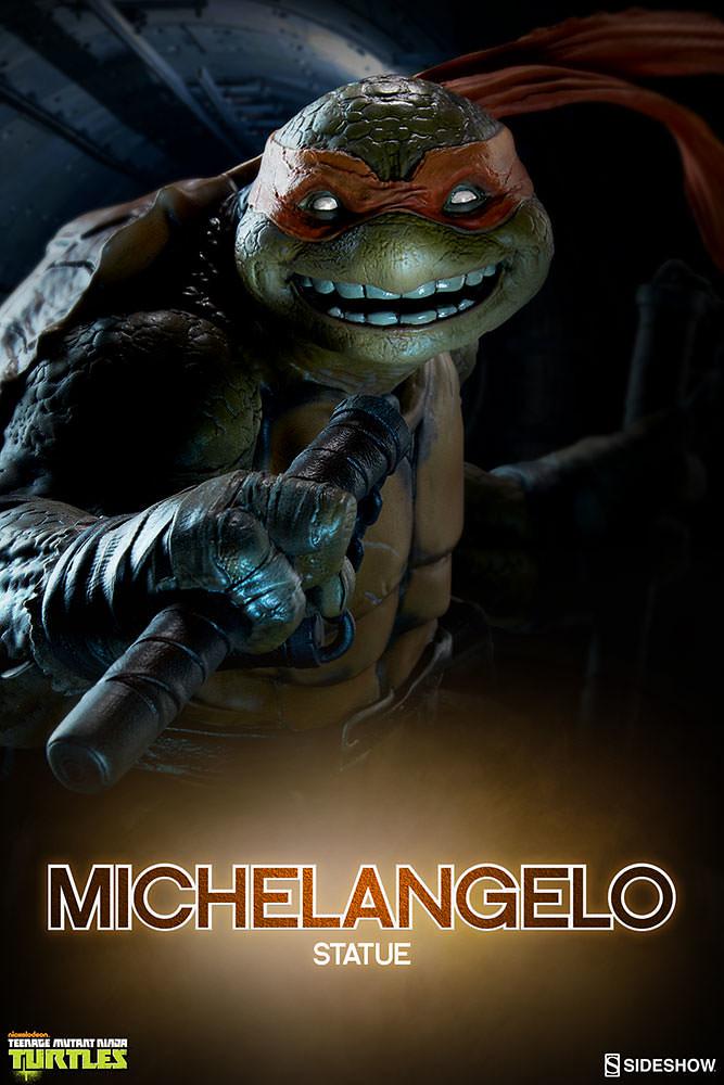 Sideshow Collectibles【米開朗基羅】Teenage Mutant Ninja Turtles Michelangelo 全身雕像作品