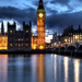 The Big Ben and houses of Parliament at blue hour in Westminster, London.  Please LIKE my page on Facebook :)  Copyright Nielskristianphotography.com  This photo may not be used without my explicit permission
